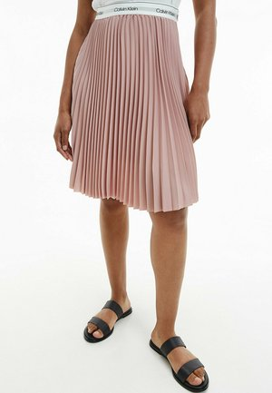 CREPE - A-line skirt - muted pink