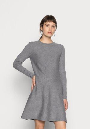 VMNANCY DRESS - Jumper dress - medium grey melange