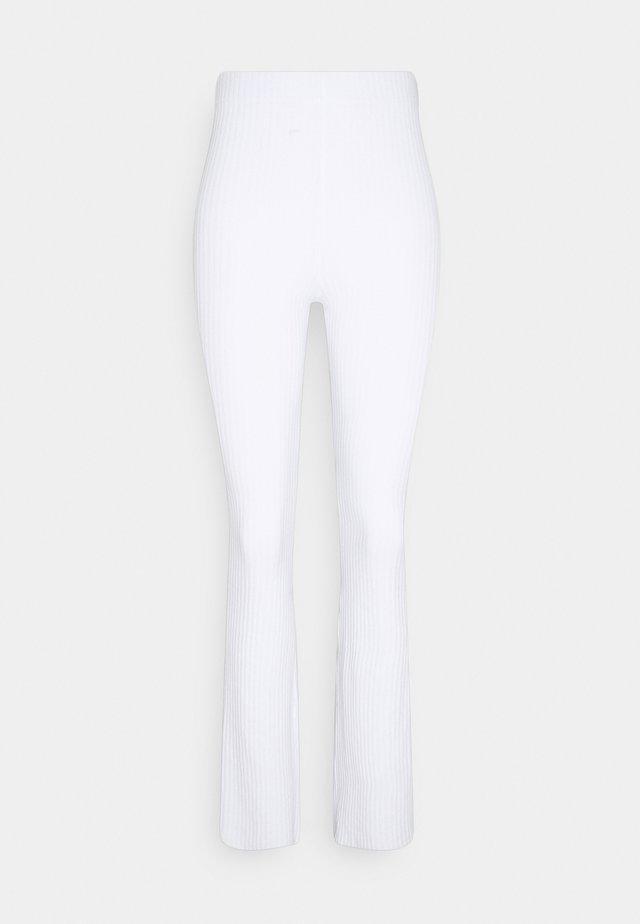 BEATA TROUSERS - Trousers - white