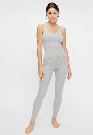 NAHTLOSE - Leggings - Trousers - grey melange