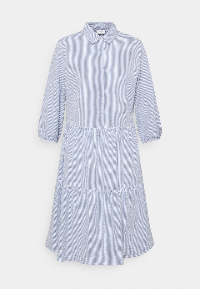 DRESS BUTTON PLACKET - Shirt dress - intense blue