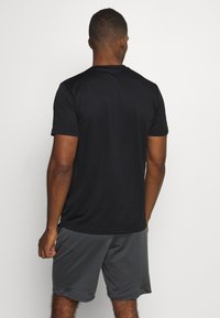 adidas Performance - TRAINING SPORTS SHORT SLEEVE TEE - Basic T-shirt - black/white - 2