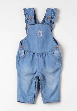 DUNGAREE BABY - Dungarees - light blue denim/blue