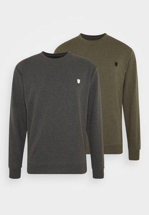 EBACH 2 PACK - Sweatshirt - charco/army