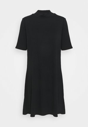 MOCK NECK DRESS - Robe pull - true black