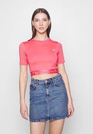 CAYLIN CROPPED TEE - Basic T-shirt - calypso coral