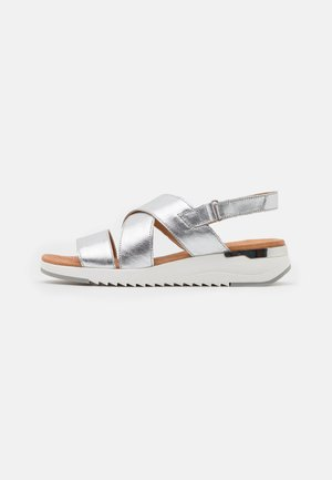 WOMS  - Wedge sandals - silver metallic