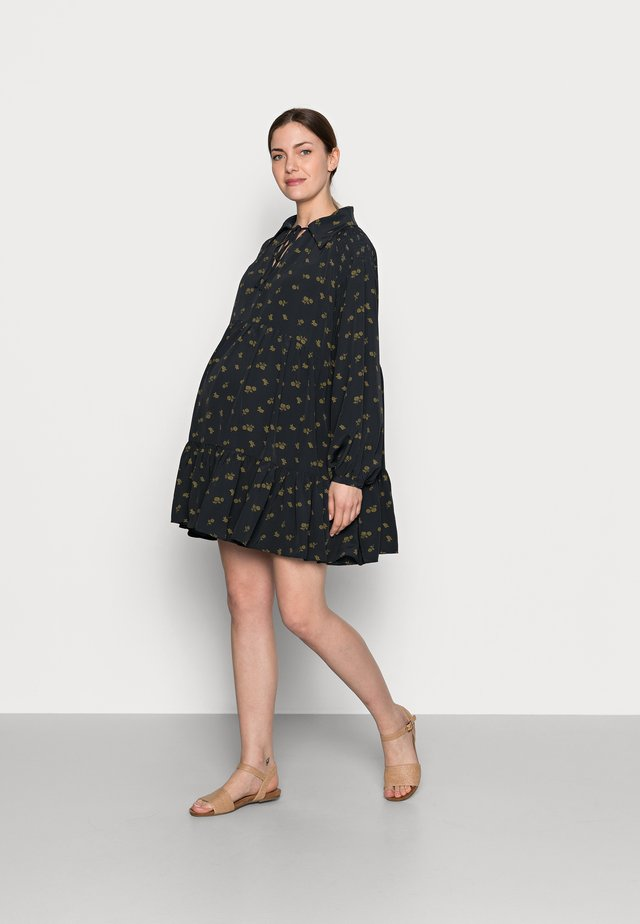 LADIES DRESS - Shirt dress - olive rose