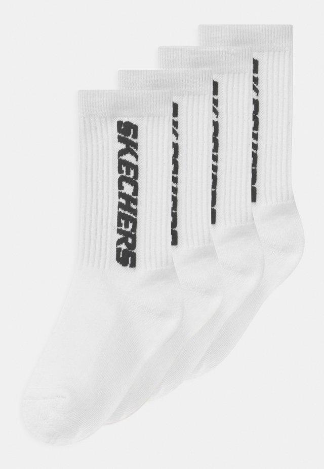 GIRLS CUSHIONED TENNIS 4 PACK - Socks - white