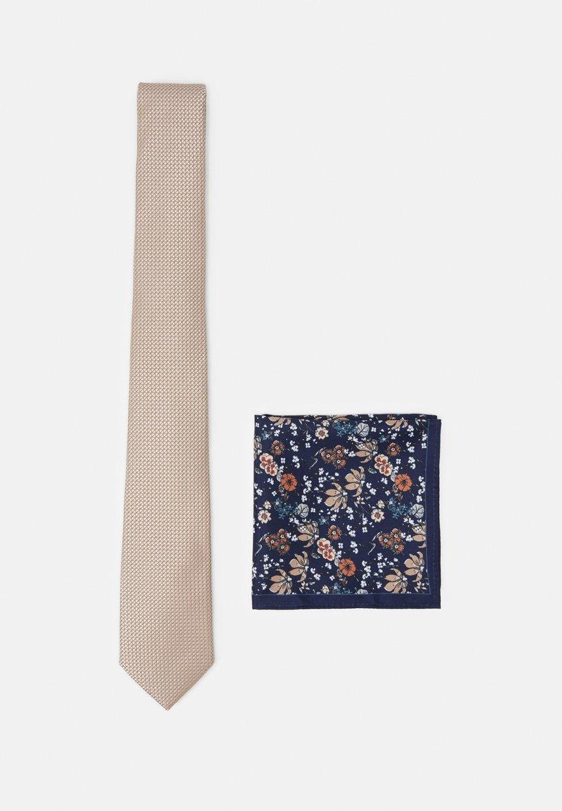 Burton Menswear London - CHAMPAGNE FLORAL SET - Kapesník do obleku - neutral