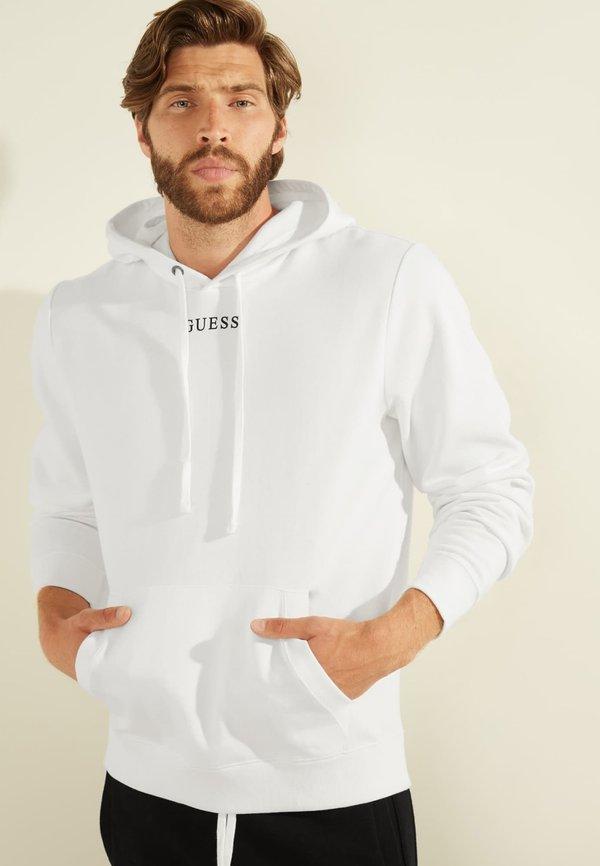 Guess Bluza z kapturem - weiß/biały Odzież Męska QIFV