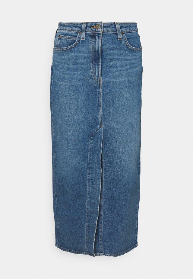 ULTRA LONG SPLIT  - Jupe en jean - vintage lewes