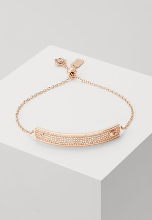 PAVE SLIDER BRACELET - Bracelet - rose gold-coloured
