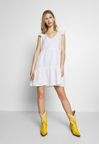 Superdry - TINSLEY TIERED DRESS - Day dress - chalk white - 1