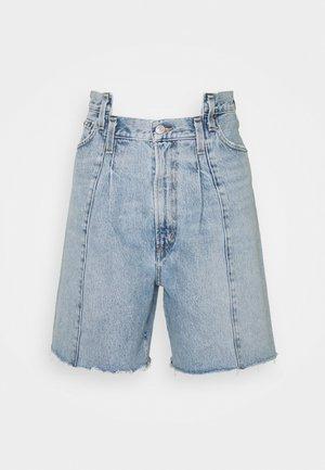 PIECED ANGLE - Denim shorts - matrix/two toned indigo