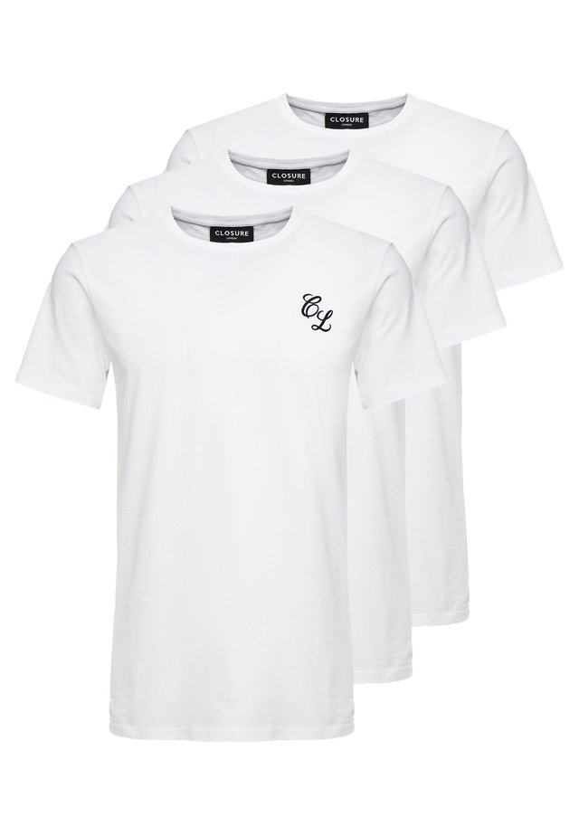 SIGNATURE TEE ONE COLOUR 3 PACK - Basic T-shirt - white