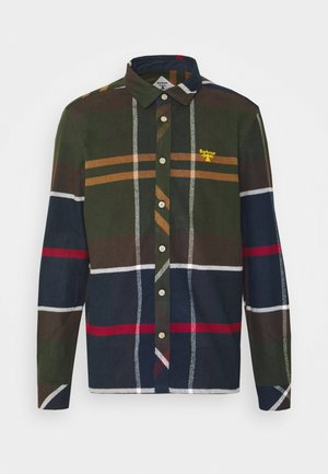 BROAD - Camisa - olive/dark blue/red