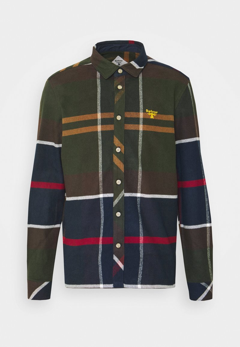 Barbour Beacon - BROAD - Shirt - olive/dark blue/red