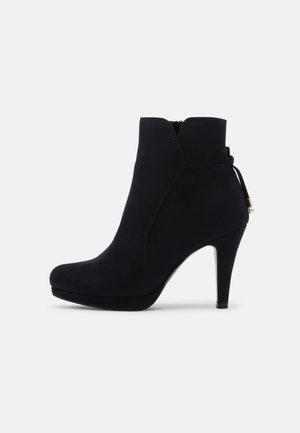 COMFORT - High heeled ankle boots - dark blue