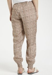 Cream - HAREM - Trousers - small brown flower - 2