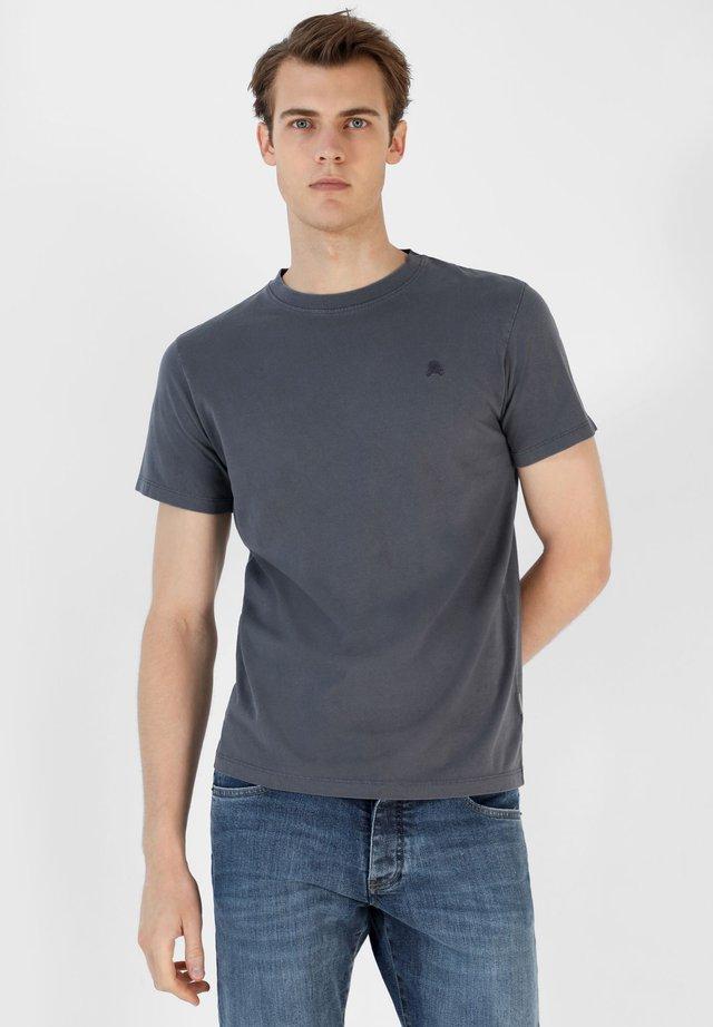 SKULL TEE - Camiseta básica - blue