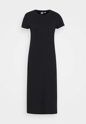CREW MIDI DRESS - Žerzejové šaty - true black