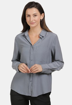 Button-down blouse - grey