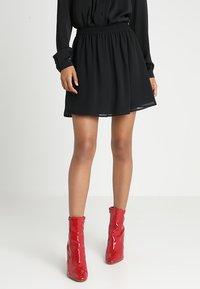 Even&Odd - A-snit nederdel/ A-formede nederdele - black - 0