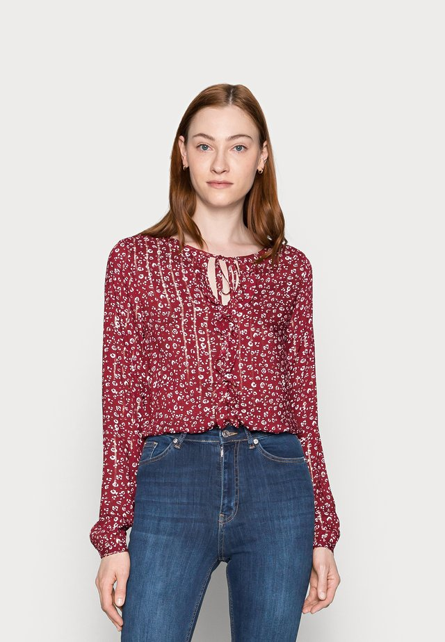 Blouse - burgundy