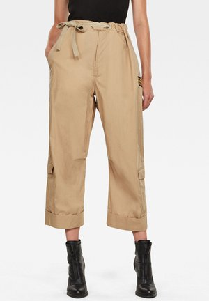 3D UTILITY HIGH LOOSE CROP - Trousers - carton