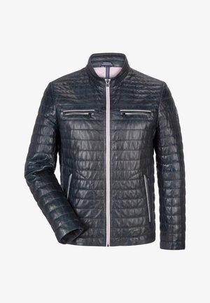 SUN RYTHM - Leather jacket - mittelblau
