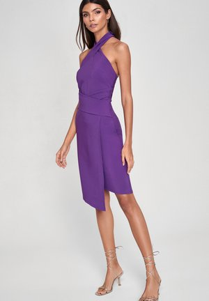 TWIST NECK - Shift dress - purple
