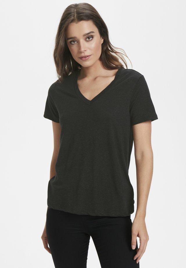 T-shirt basic - black/grey