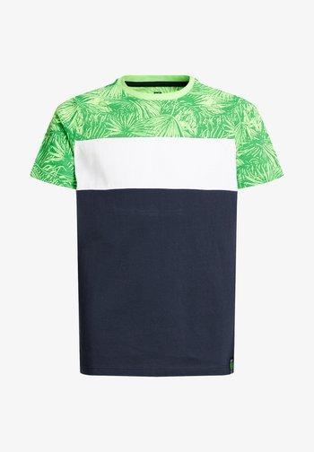 MET COLOURBLOCK - T-shirt med print - green