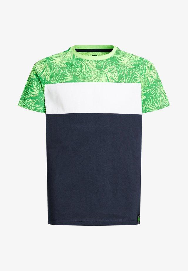 MET COLOURBLOCK - T-shirt print - green