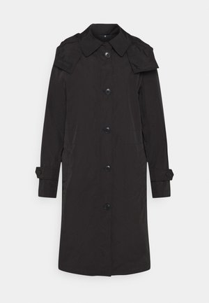 COAT PACKABLE - Trenchcoat - black