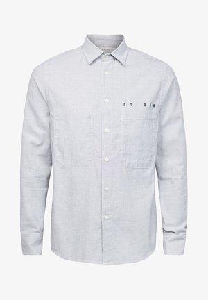 DOWL STRAIGHT - Shirt - white/mazarine blue oxford