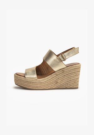 High heeled sandals - mntrl gold ngl
