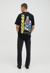 PULL&BEAR - T-shirt imprimé - black - 2