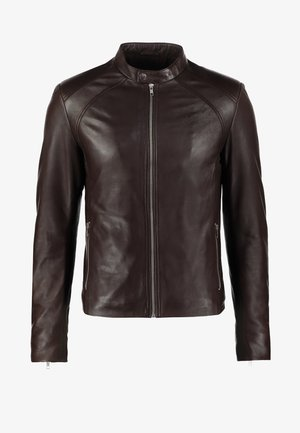 LENI - Leather jacket - brown