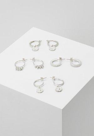 PCHIPEA HOOP EARRINGS 4 PACK - Earrings - silver-coloured