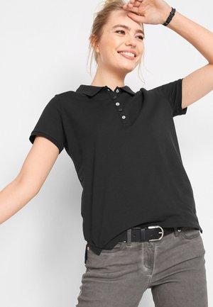 SPORTIVES MIT SCHLITZEN - Poloshirt - schwarz
