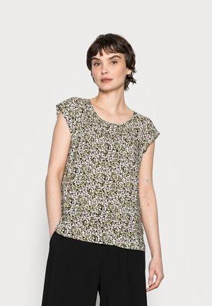 FANNIE ABSTRACT - Print T-shirt - black