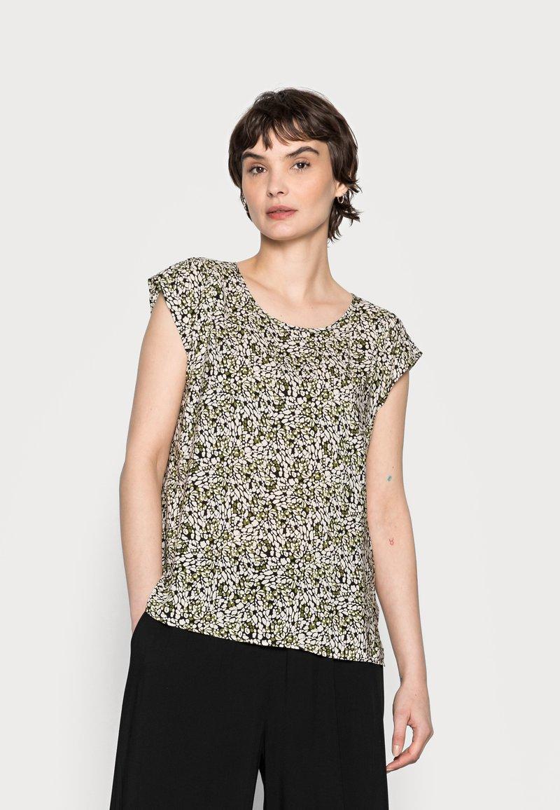 Opus - FANNIE ABSTRACT - Print T-shirt - black