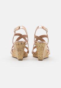 New Look Wide Fit - WIDE FIT SUNSHINE BLING MULTISTRAP WEDGE - Sandály na vysokém podpatku - rose gold - 3