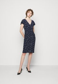 Lauren Ralph Lauren - PRINTED MATTE DRESS - Shift dress - lighthouse navy - 1