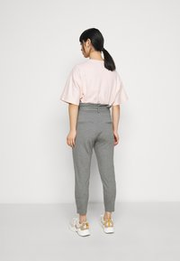 Vero Moda Petite - VMEVA LOOSE PAPERBAG PANT - Trousers - medium grey melange - 2