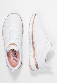Skechers Sport - FLEX APPEAL 3.0 - Zapatillas - white/rose gold - 3