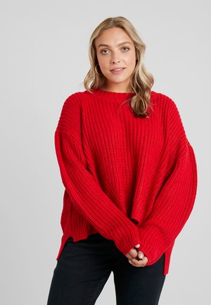 LADIES WIDE OVERSIZE - Neule - fire red