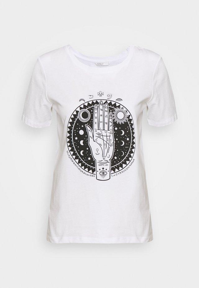 ONLSYMBOL - T-shirt con stampa - white